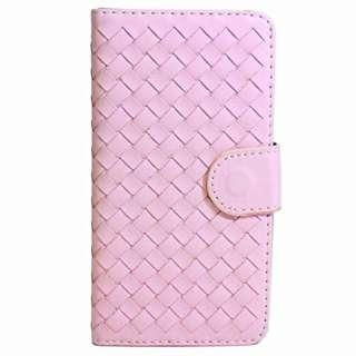 iPhone 6s/6用 ラティス横開きレザーケース IQ-IP6RA-PK ピンク