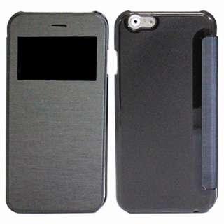 iPhone 6s/6用 小窓付き横開きケース IQ-IP6KO-BK ブラック