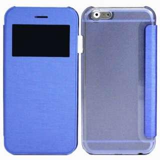 iPhone 6s/6用 小窓付き横開きケース IQ-IP6KO-BL ブルー