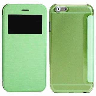 iPhone 6s/6用 小窓付き横開きケース IQ-IP6KO-GR グリーン