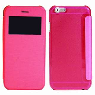 iPhone 6s Plus/6 Plus用 小窓付き横開きケース IQ-IP6PKO-PK ピンク