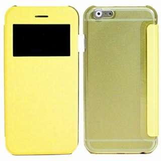 iPhone 6s Plus/6 Plus用 小窓付き横開きケース IQ-IP6PKO-YE イエロー