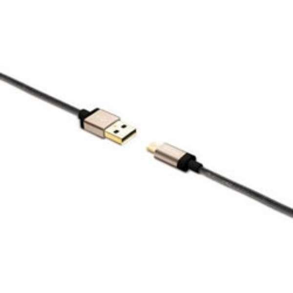 強靭・高耐久micro USBケーブル 1.2m 64707 ゴールド [1.2m]