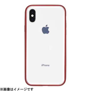 iPhone X用 Shock Proof Air Jacket PGK-43 Rubber Red