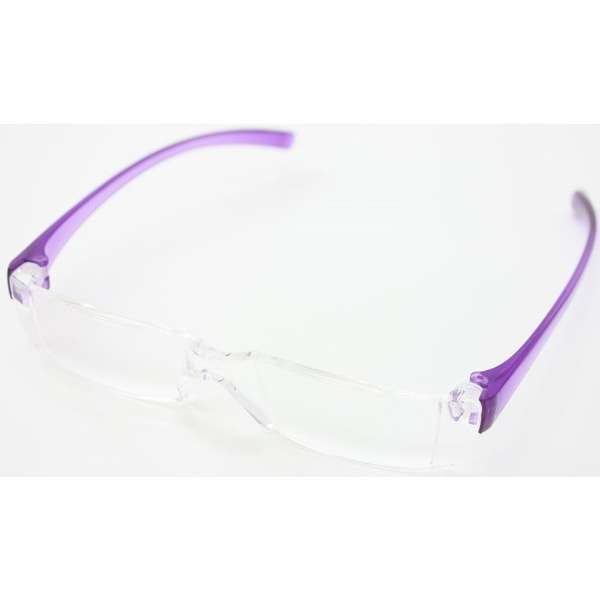 老眼鏡 カルルック KLPP200(パープル/+2.00)