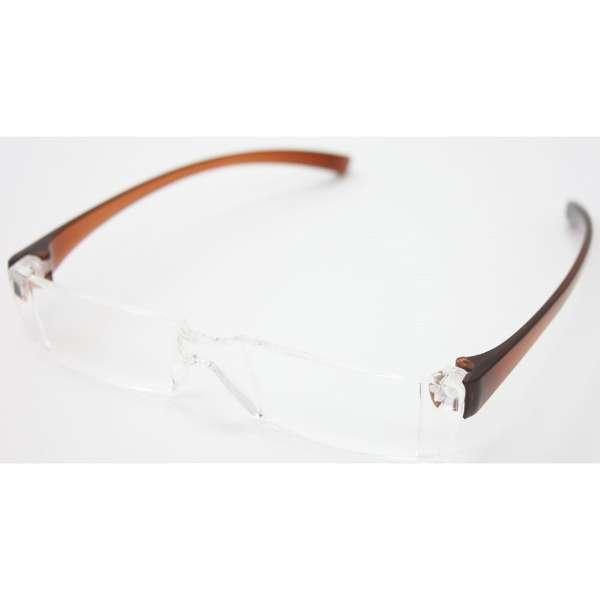 老眼鏡 カルルック KLBR350(ブラウン/+3.50)