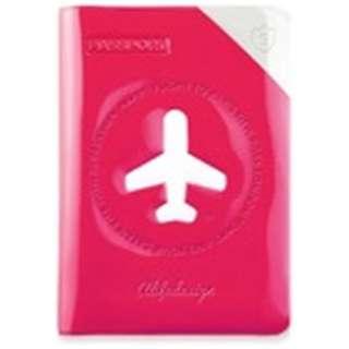 パスポートカバー HAPPY FLIGHT SHIELD PASSPOR COVER スキミング防止機能付 SNCF-122-1 ローズ