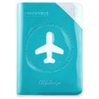 パスポートカバー HAPPY FLIGHT SHIELD PASSPOR COVER スキミング防止機能付 SNCF-122-4 Cブルー