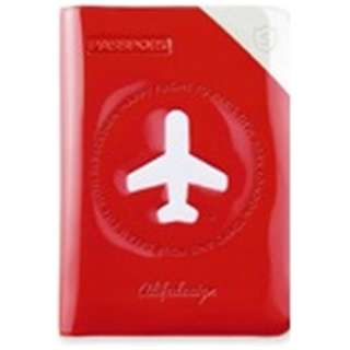 パスポートカバー HAPPY FLIGHT SHIELD PASSPOR COVER スキミング防止機能付 SNCF-122-5 レッド