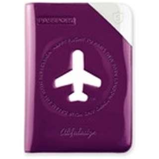 パスポートカバー HAPPY FLIGHT SHIELD PASSPOR COVER スキミング防止機能付 SNCF-122-6 バイオレット