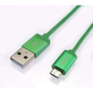 micro USB 2.4Aケーブル 1.2m メタリック [1.2m]