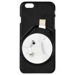 iPhone 6用 ケース with イヤフォン&ケーブル収納 IP6CABK8 ブラック