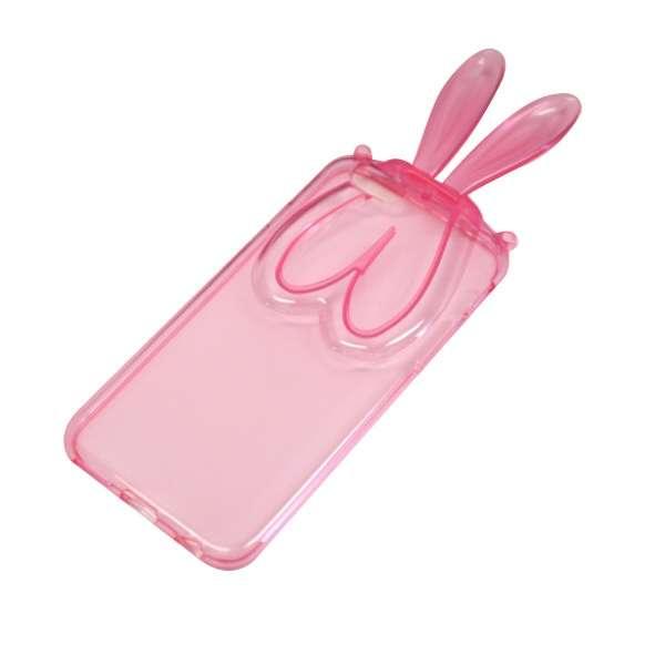 iPhone6/6s (4.7) うさぎ耳付TPUケース IPC-61PK ピンク