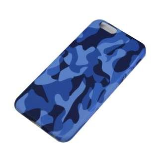 iPhone6/6s (4.7) 迷彩柄ハードケース IPC-66BL ブルー