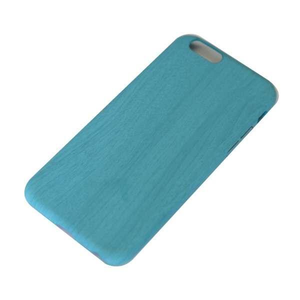 iPhone6/6s (4.7) 木目調ハードケース IPC-70BL ブルー