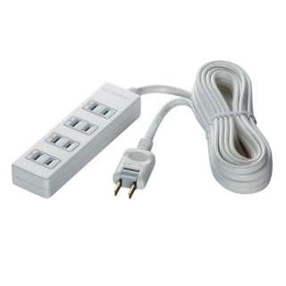 2ピン式電源タップ 4個口 雷サージ防止 3m ホワイト BCTAPSG2430WH ホワイト [3m]