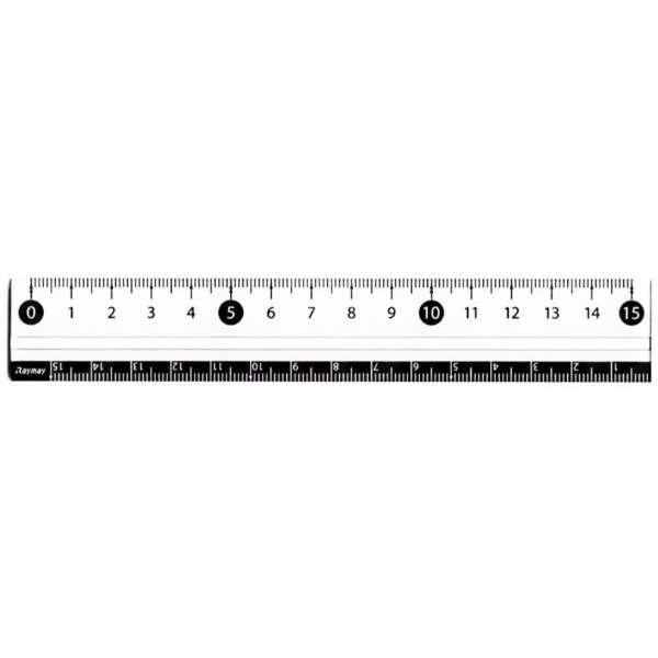 定規]見やすい白黒定規 15cm APJ188W ホワイト レイメイ藤井 通販 ...