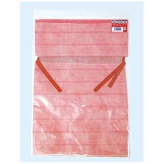 不織布底マチ付巾着袋 M ピンク