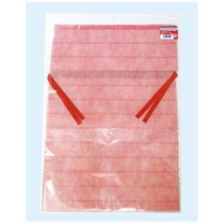 不織布底マチ付巾着袋 L ピンク