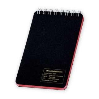 [メモ帳]サイドカラーリングメモ(124×74mm・2mm方眼・50枚) 8947 Black/Red