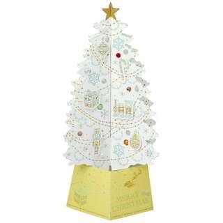 [クリスマスカード] 【限定】Xマスジュエルツリーカード (100x170mm) X48-049 ホワイト金