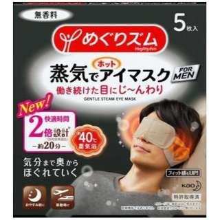 めぐりズム 蒸気でホットアイマスク FOR MEN 5枚