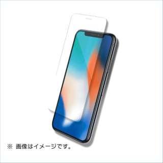 iPhoneX用液晶保護ガラスシートフラットタイプ ハイスタンダードクリアー B05-23301TP