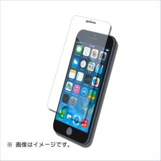 iPhone8(7)用液晶保護ガラスシートフラットタイプ ブルーライトカット B03-23304TP