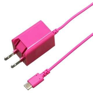 [Type-C] ケーブル一体型AC充電器 2A 2.5m PK