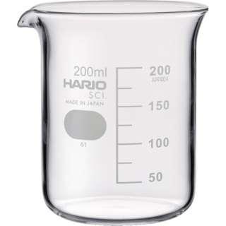 HARIO ビーカー 目安目盛付 200ml