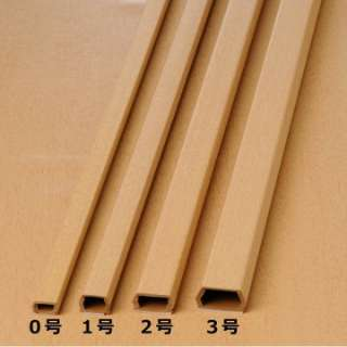 テープ付きモール 0号 木目ライト 2m×1本 DZ-WMT02-RT 木目ライト