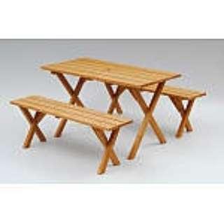 ピクニックガーデンテーブル&ベンチ(3点セット) PTS-1205S ブラウン