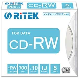 CD-RW700.PW5P A データ用CD-RW [5枚 /700MB /インクジェットプリンター対応]