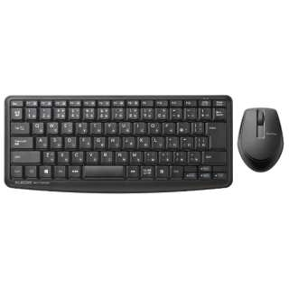 静音ミニキーボード・静音マウス ブラック TK-FDM091SMBK [USB /ワイヤレス]