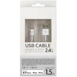 [ライトニング] スリムタイプケーブル 充電・転送 (1.5m・ホワイト)MFi認証 UDM-SL150W UDM-SL150W ホワイト [1.5m]
