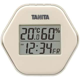 TT-573 温湿度計 アイボリー [デジタル]