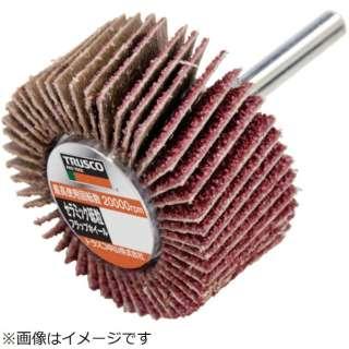 TRUSCO セラミック砥粒フラップホイル 60X25X6 #C80 (5個入)