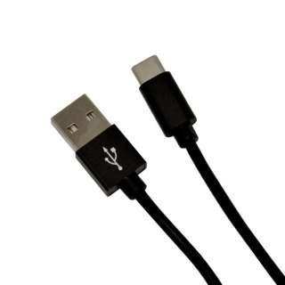 [Type-C] 充電・通信ケーブル アルミ  1.2m BK R12CAAC2A01BK ブラック [1.2m]