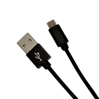 [micro USB] 充電・通信ケーブル アルミ 0.2m R02CAAM2A01BK ブラック [0.2m]