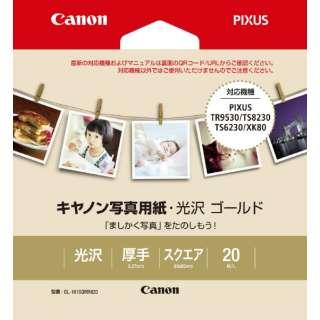 キヤノン写真用紙・光沢 ゴールド GL-101SQMINI20