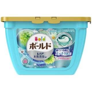 Bold(ボールド)ジェルボール 3D 爽やか プレミアム クリーンの香り 本体 18粒入〔衣類洗剤〕