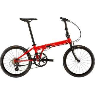 20型 折りたたみ自転車 SPEED Falco(フラッシュレッド/外装8段変速)【2019年モデル】 【組立商品につき返品不可】