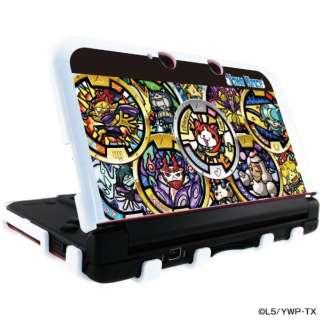 妖怪ウォッチ Nintendo 3DS LL 専用 カスタムハードカバー3 メダル柄ブラックVer. YW-16A 【3DS LL】