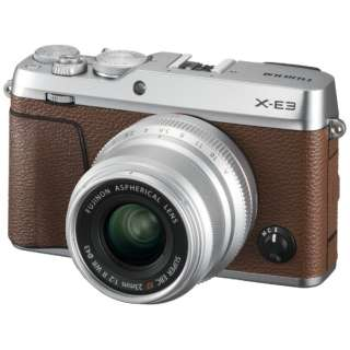 X-E3 ミラーレス一眼カメラ XF23mmF2レンズキット ブラウン [単焦点レンズ]