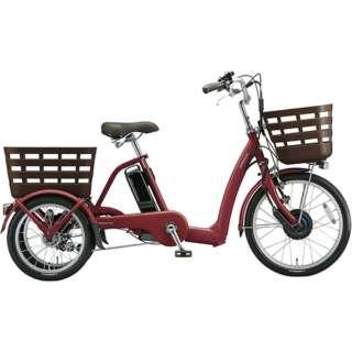 20型 電動アシスト自転車 フロンティア ラクットワゴン(T.Xルビーレッド ツヤ消し) FW0B49 《両輪駆動》 【組立商品につき返品不可】