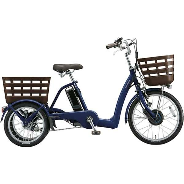 20型 電動アシスト自転車 フロンティア ラクットワゴン(T.Xサファイヤブルー ツヤ消し) FW0B49 《両輪駆動》 【組立商品につき返品不可】
