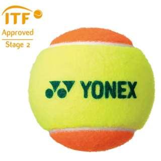 硬式 ジュニア テニスボール マッスルパワーボール30(オレンジ×イエロー/1ダース12個入り) TMP30 STG3RDS12DOZ【8歳~10歳の子供達・大人の初心者】