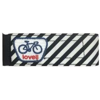 自転車用 アンクルバンド 自転車用すそバンドV2ボーダー(ボーダーブラック/全長 360mm)
