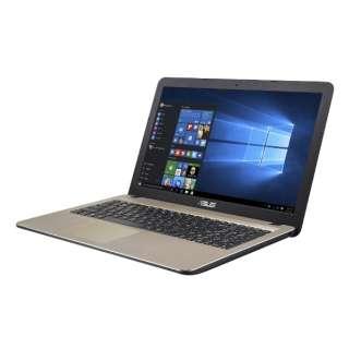 ASUS VivoBook X540YA-XX744T 15.6型 1366x768(WXGA)/AMD E2-6110 APU/ 4G/500G/DVDスーパーマルチドライブ X540YA-XX744T ダークブラウン [AMD Eシリーズ]