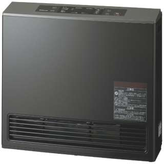 140-9395 ガスファンヒーター eco model ピアノブラック [木造15畳まで /コンクリート21畳まで /都市ガス12・13A]